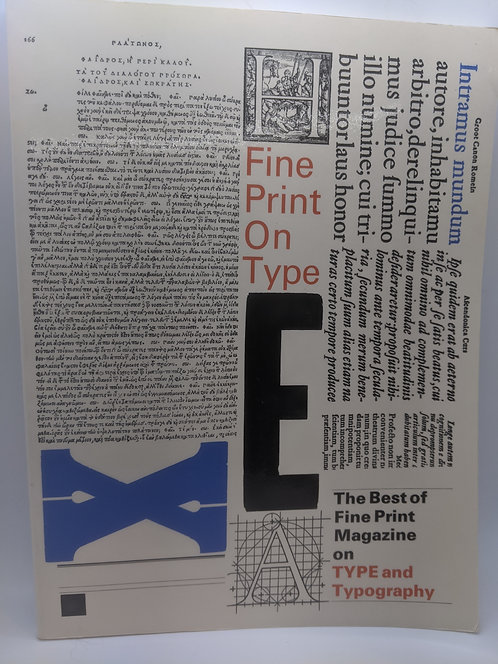 Fine Print on Type: The Best of Fine Print Magazine on Type and Typography