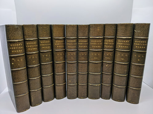 Poetical Works of Thomas Moore (in ten volumes)