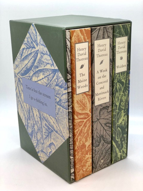 Box Set: Henry David Thoreau, WALDEN, A WEEK, THE MAINE WOODS, CIVIL DIS.