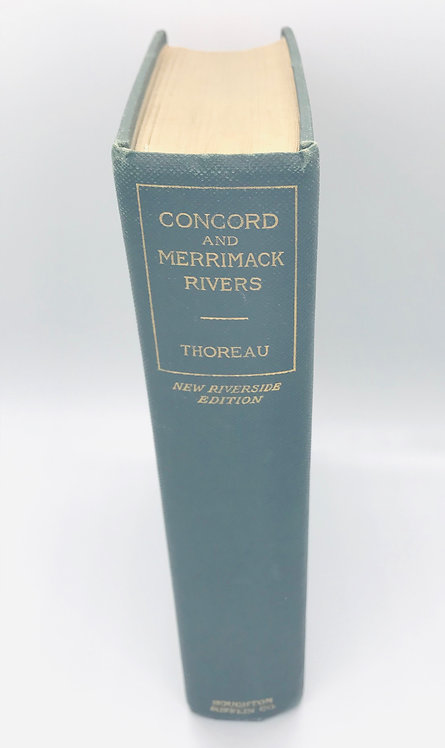 H.D. Thoreau: CONCORD AND MERRIMACK RIVERS