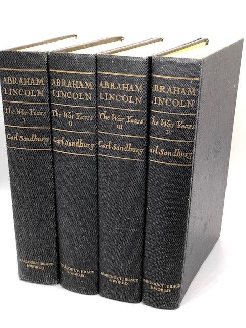 Abraham Lincoln : The War Years : 4 Volume Set, by Carl Sandburg