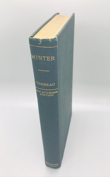 H. D. Thoreau: WINTER  New Riverside Edition