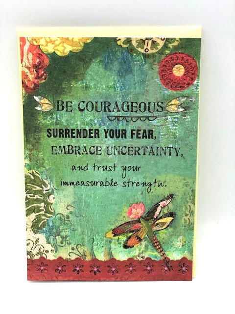 Notecard: Be Courageous