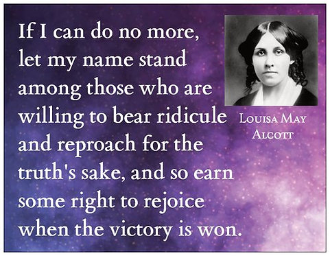 "Magnet: Louisa May Alcott ""Victory"""