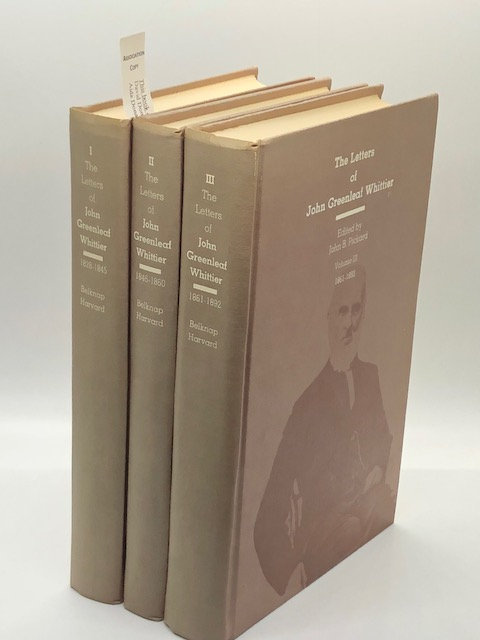 The Letters of John Greenleaf Whittier (3 Volume Set)