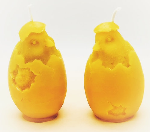 Hatching Chicks Beeswax Candles (Pair)