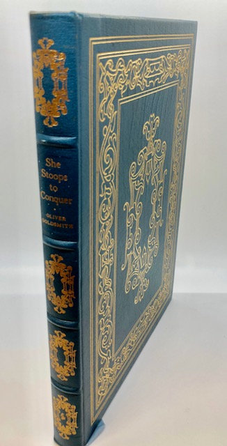 She Stoops to Conquer, by Oliver Goldsmith (Teal Leather)