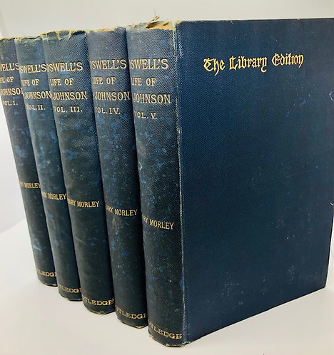 (5 Vol.) Boswell's Life of Johnson