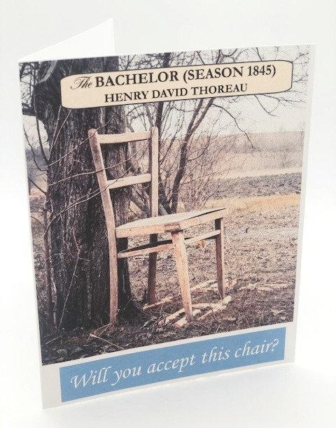 """Notecard: """"The Bachelor: Season 1845, Henry David Thoreau"""""""