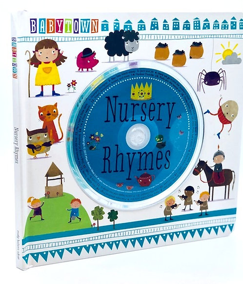 BabyTown Nursery Rhymes Board book with companion CD