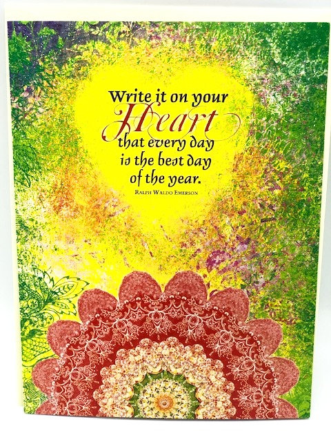"Notecard: ""Write it On Your Heart"" (Emerson)"