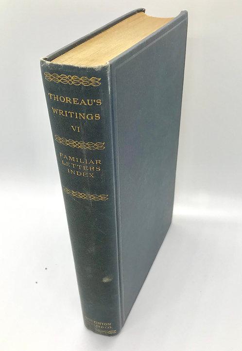 H.D. Thoreau: EXCURSIONS AND POEMS