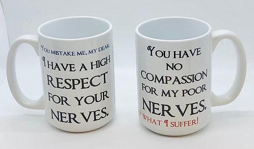 Mug Set: Mrs. Bennet's Nerves & Mr. Bennet's Old Friends