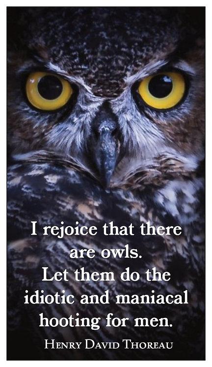 """Magnet: H.D. Thoreau, """"Owls"""""""