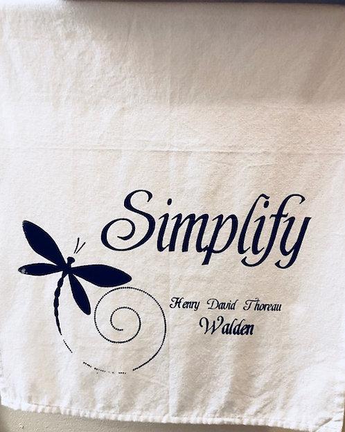 "Tea Towel: ""Simplify"""