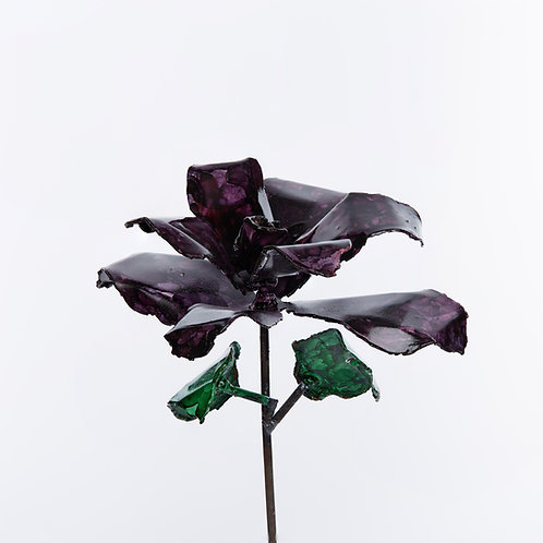 Front View Recycled Steel Purple Rose