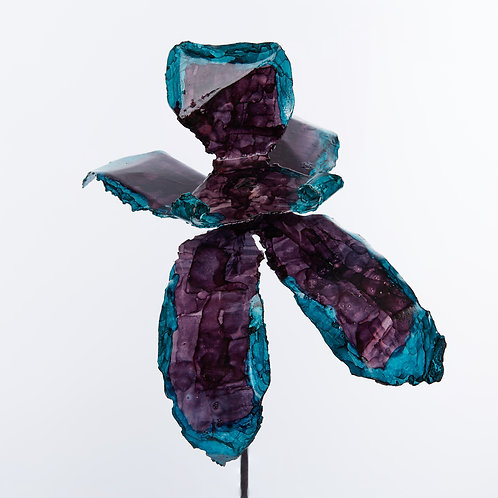 Front View Recycled Steel Purple Teal Orchid