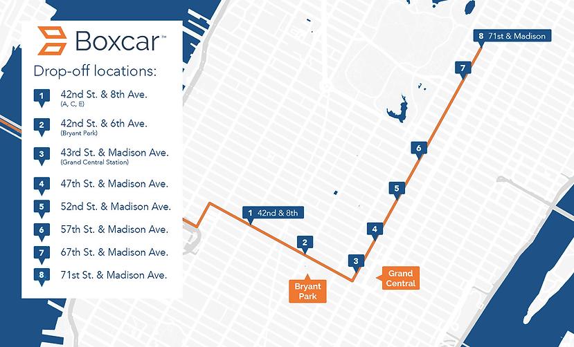 Boxcar Drop Off Locations