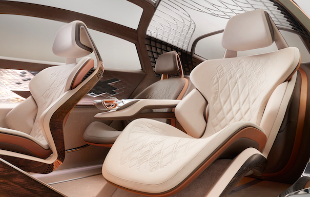 The luxury car company Bentley designed their EXP 100 GT using Vegea's wine leather for the upholstery. Photo is a digital rendering of the design.