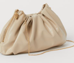 H&M Conscious exclusive spring 2020 collection: Shoulder bag made from Vegea and water-based polyurethane