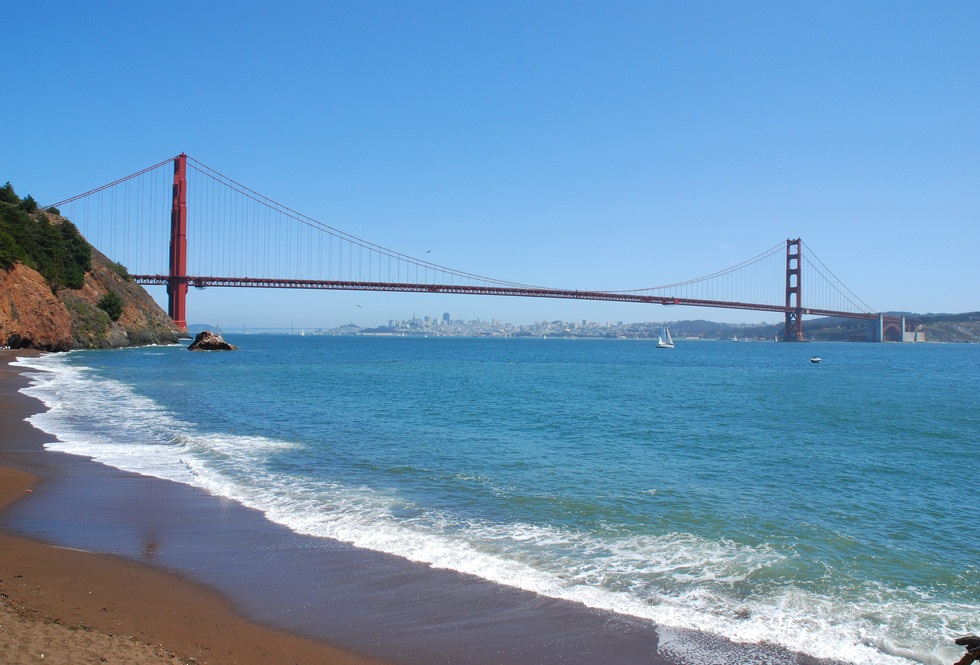 Golden Gate Bridge from Kirby Cove