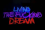neon, living, dream, photography, street art, art
