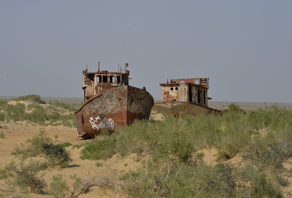 Remnants of the Aral Sea