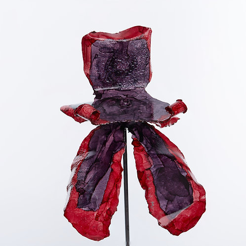 Front View Recycled Steel Purple Red Orchid