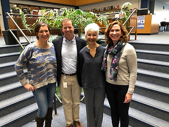 Vanessa Elias with Dr. Kevin Smith, Dr. Suniya Luthar and Genevieve Eason