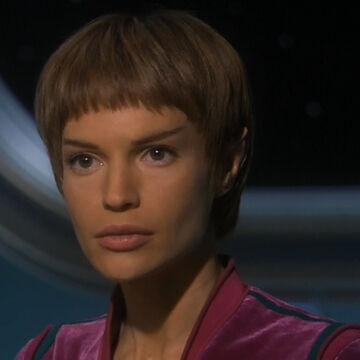 Photograph of Commander T'Pol (Vulcan) from Star Trek - Enterprise