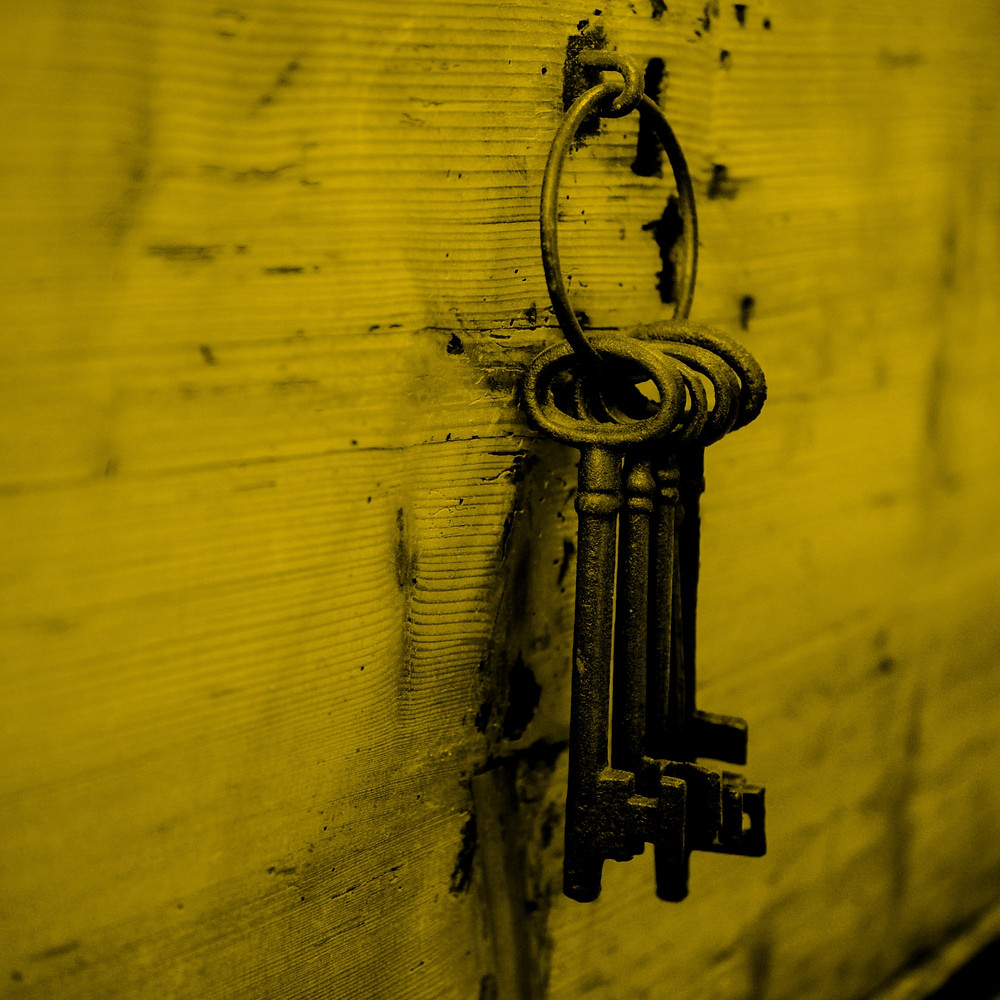 Skeleton keys hanging on a wall - on blog post by Mel Butcher