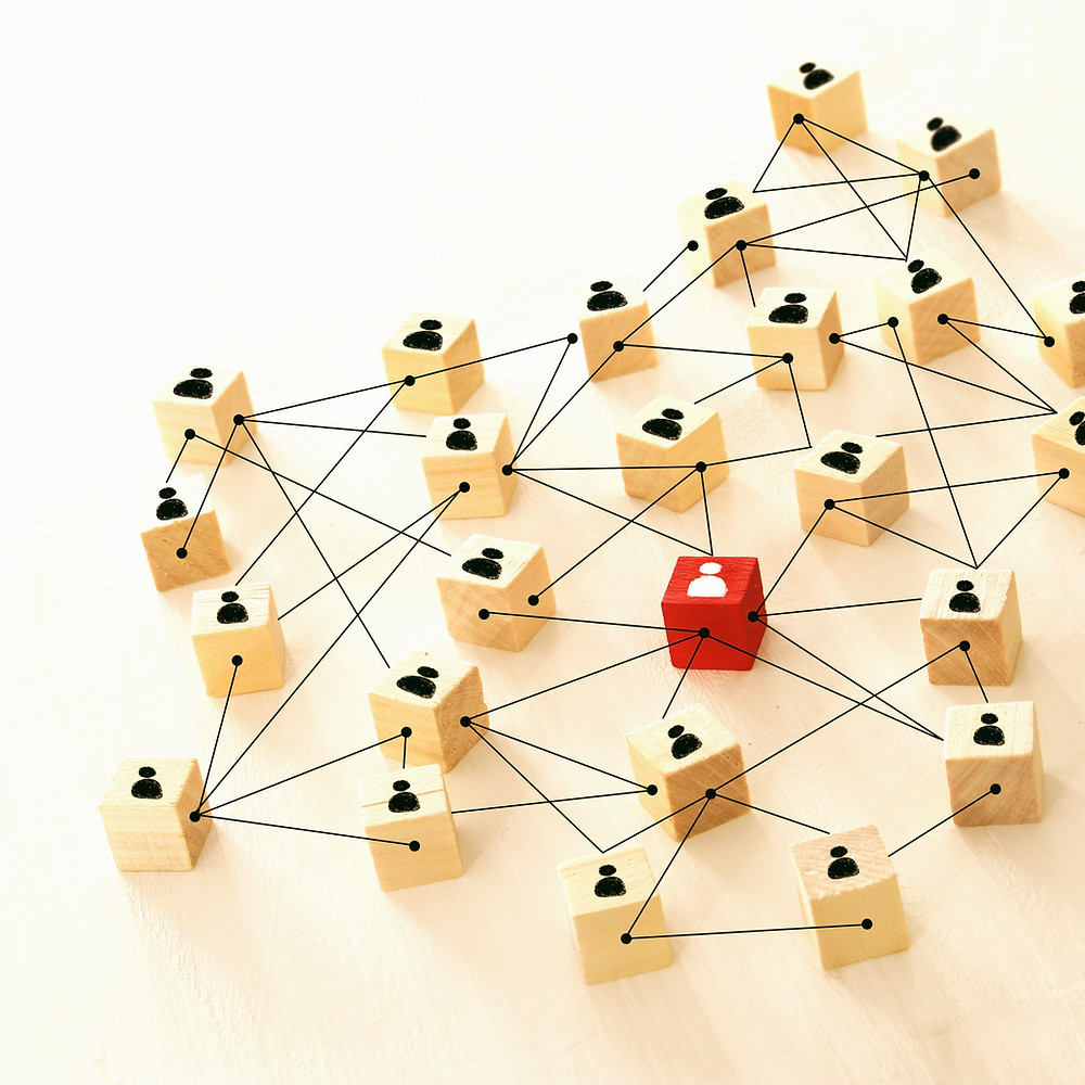 abstract visual of a person's network connections