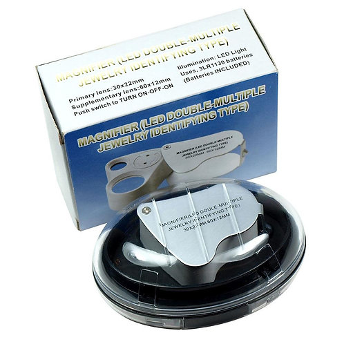 Magnifier LED Double Multiple with LED Jewelry Identifying Type