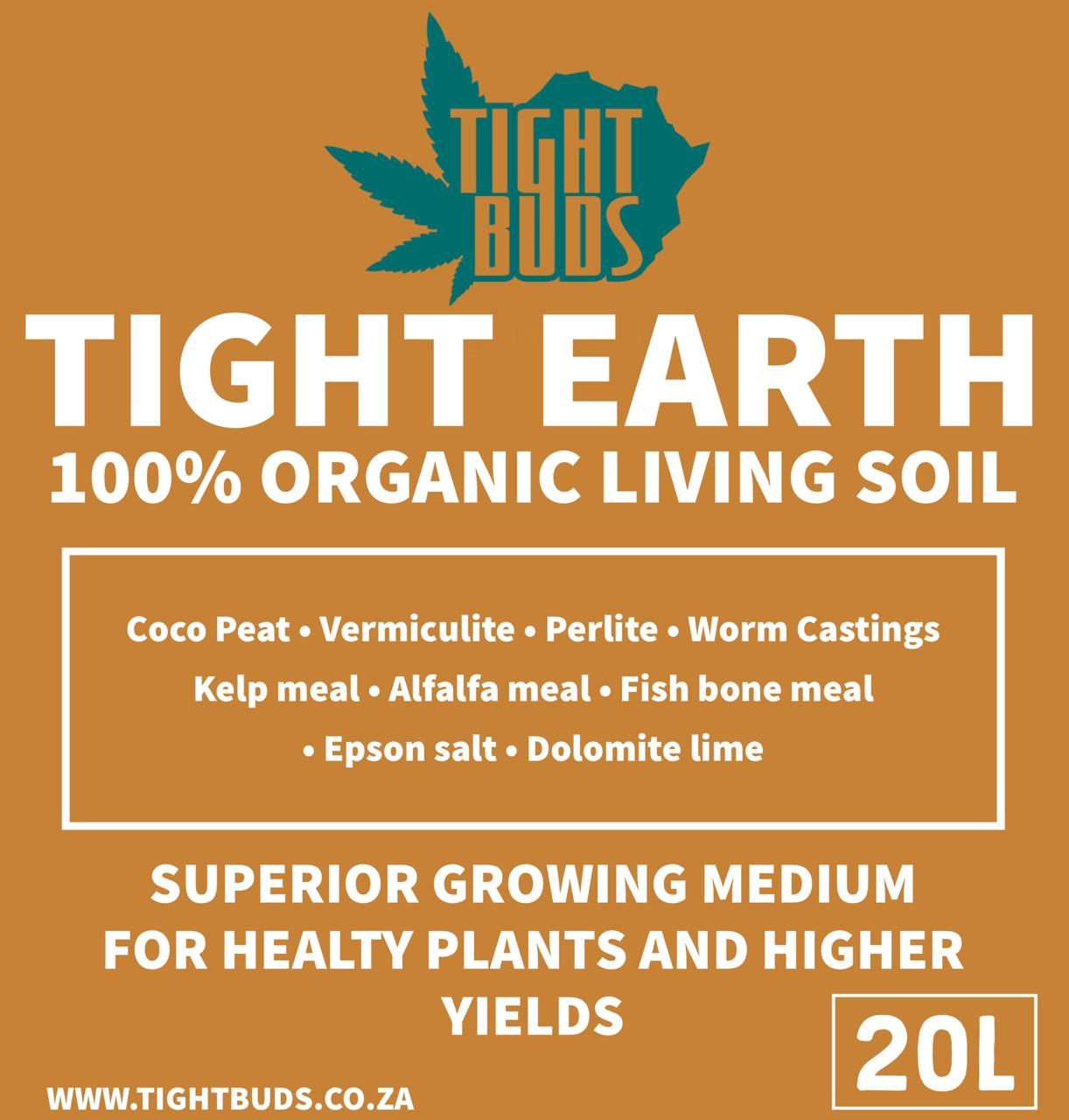 TIGHT EARTH  - 100% Organic Living Soil