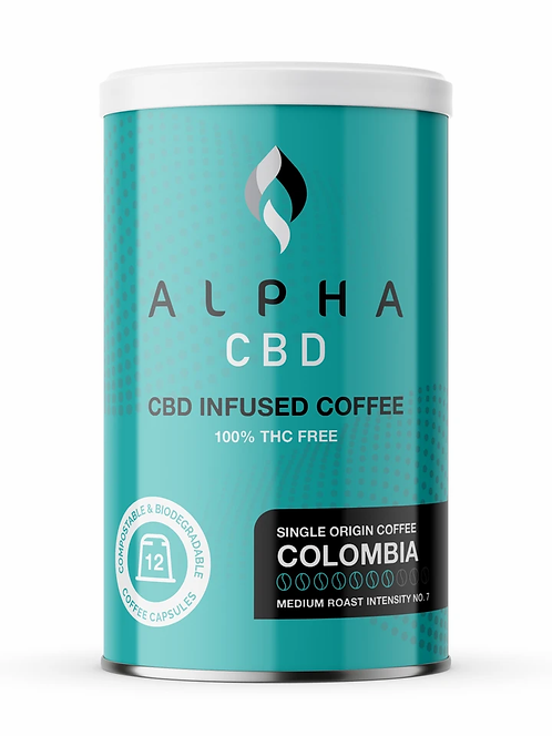 Alpha CBD - 12 Coffee Capsules: Mild (5mg of CBD per Capsule)