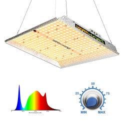 Mars Hydro TS 1000 LED Grow Light for Indoor Plants Full Spectrum 150W 2ftx2ft 3