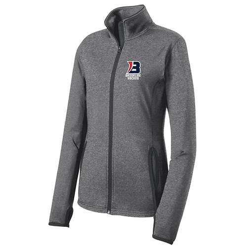Sport-Tek® Ladies Sport-Wick® Stretch Contrast Full-Zip Jacket
