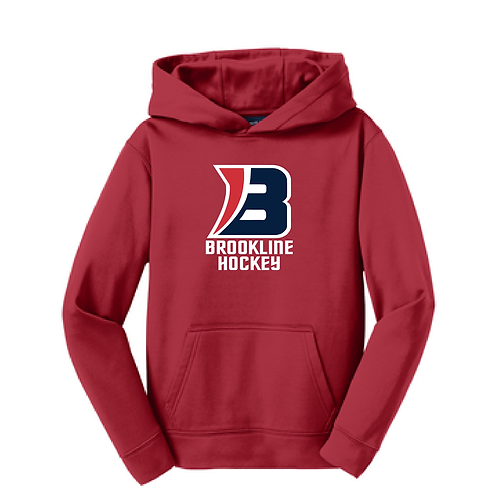 Sport-Tek® Youth Sport-Wick® Fleece Hooded Pullover a product
