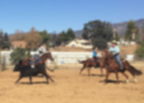 3 rider arena sorting at the Yucaipa Equestrian Center