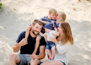 Family photos at North Beach sand dunes