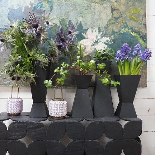 Vase/Jardinière en ardoise naturelle PM