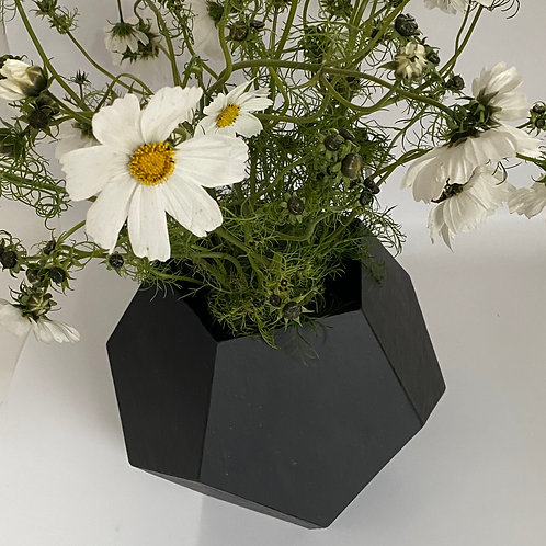 Jardinière ou vase Penta en ardoise naturelle