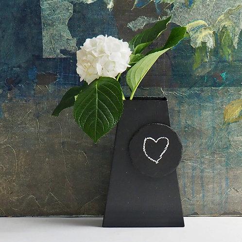 "Vase ""message"" en ardoise naturelle"