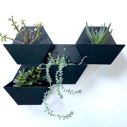 Jardinière murale en ardoise naturelle hexagonale