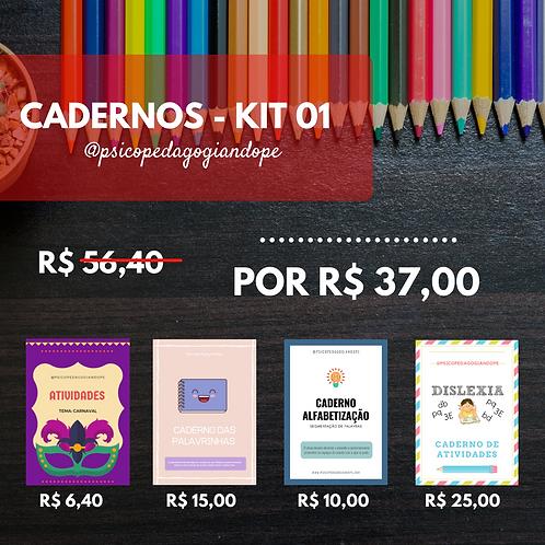 CADERNOS - KIT 01