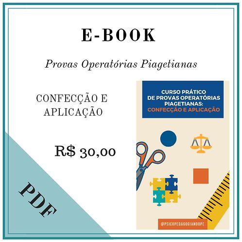 E-BOOK: CURSO PRÁTICO DE PROVAS OPERATÓRIAS PIAGETIANAS: CONFECÇÃO E APLICAÇÃO