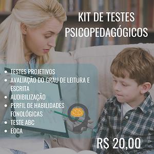 KIT TESTES PSICOPEDAGÓGICOS