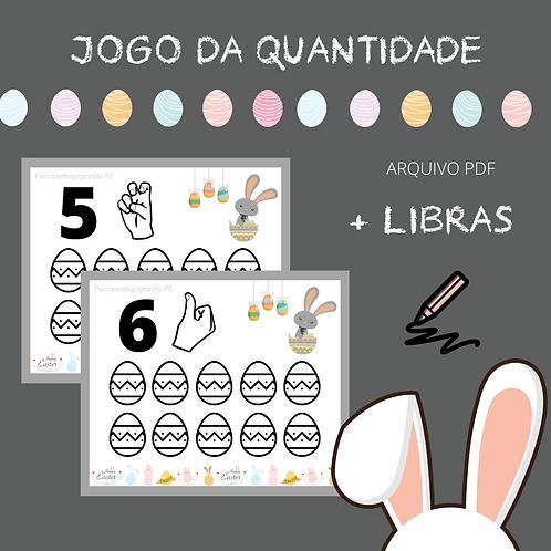 JOGO DA QUANTIDADE + LIBRAS (PÁSCOA)