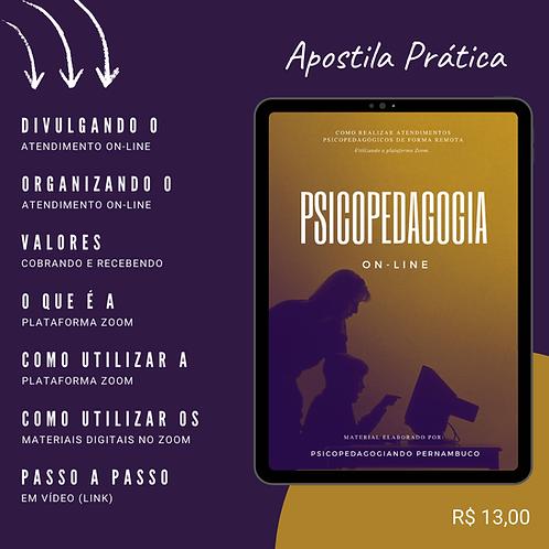 PSICOPEDAGOGIA ON-LINE - UTILIZANDO O ZOOM