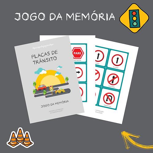 PLACAS DE TRÂNSITO - JOGO DA MEMÓRIA